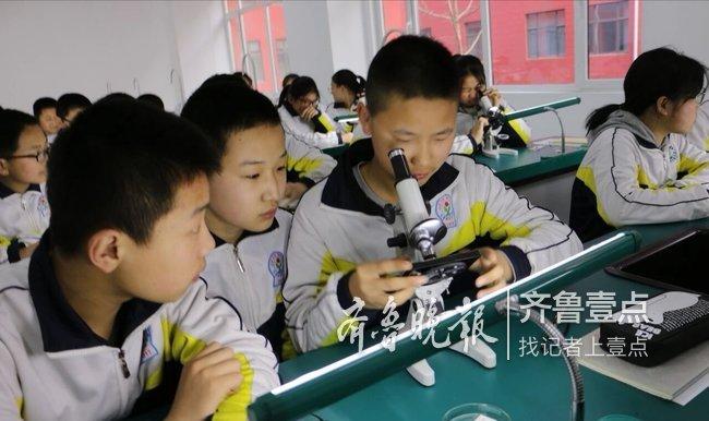 观察细胞、测固体密度…东平县实验中学开设实验课