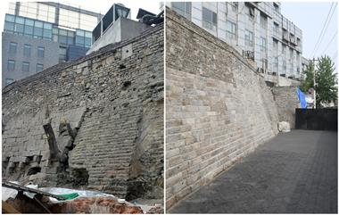 济南600年古城墙南段修复完成 有望5月对外开放