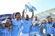 蝉联英超冠军!曼城4-1逆转布莱顿夺冠 阿圭罗建功飞翼传射