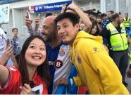 武磊感谢球迷支持:看到五星红旗飘扬 让我很温暖