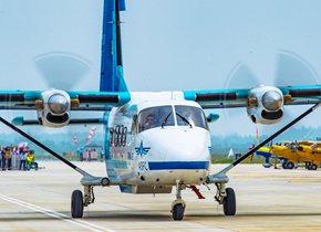 国产运12飞机亮相国际航联世界飞行者大会