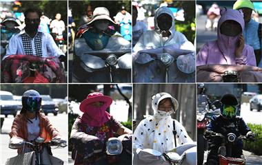 """济南最高温39℃ 街头花式避暑""""神器""""感受下"""
