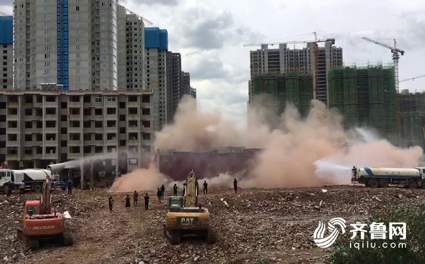 濟南市中區三萬余平違建被拆除 現場震撼