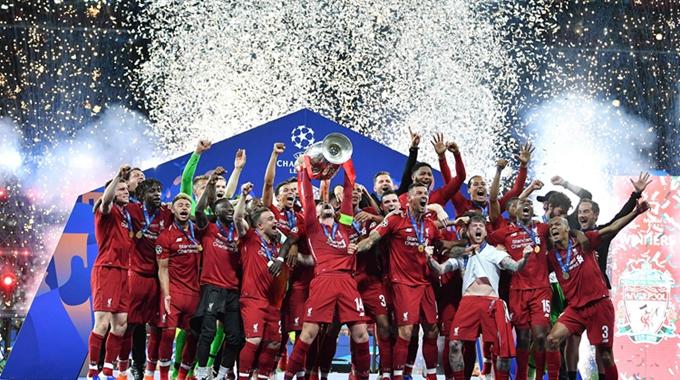 萨拉赫闪击 利物浦夺队史第6座欧冠冠军