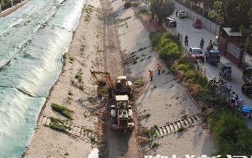 聊城青年渠改造工程正在施工