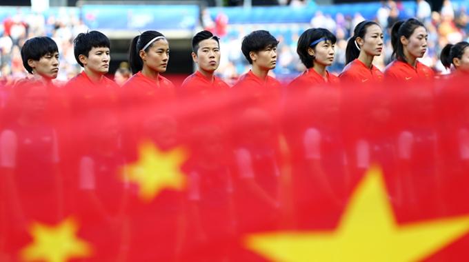 中国女足挺进世界杯16强 贾秀全泪洒球场