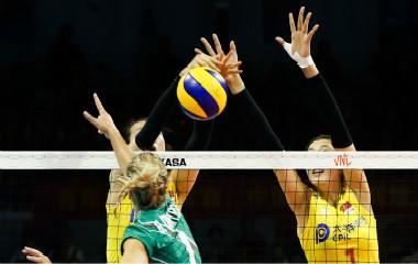 2019世界女排联赛宁波站:中国女排3-0保加利亚女排
