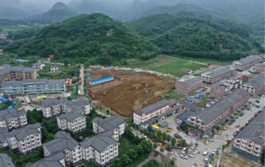 中国速度!宜宾震中首个临时安置房开建