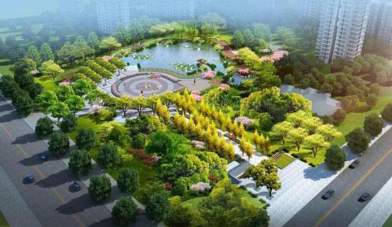 淄博孙庄游园景观工程完工 总面积26500平方米