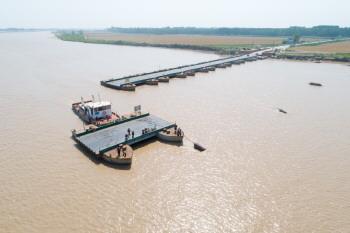黄河高青段拆浮桥度汛期
