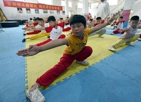 郯城留守儿童暑期学武术 强身健体感受传统魅力