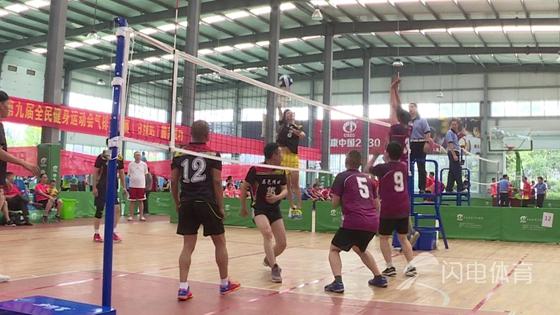 山东省第九届全民健身运动会气排球比赛日照站开幕