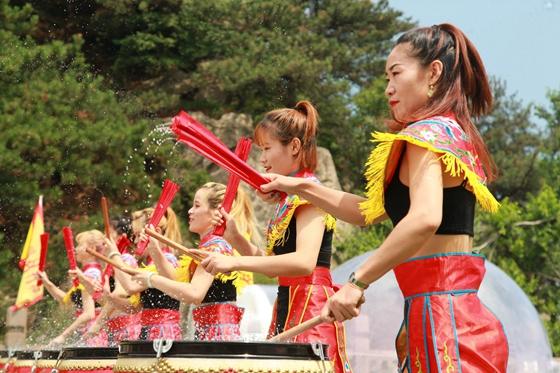 沂蒙山龟蒙景区山洞伏羊文化节盛大开幕