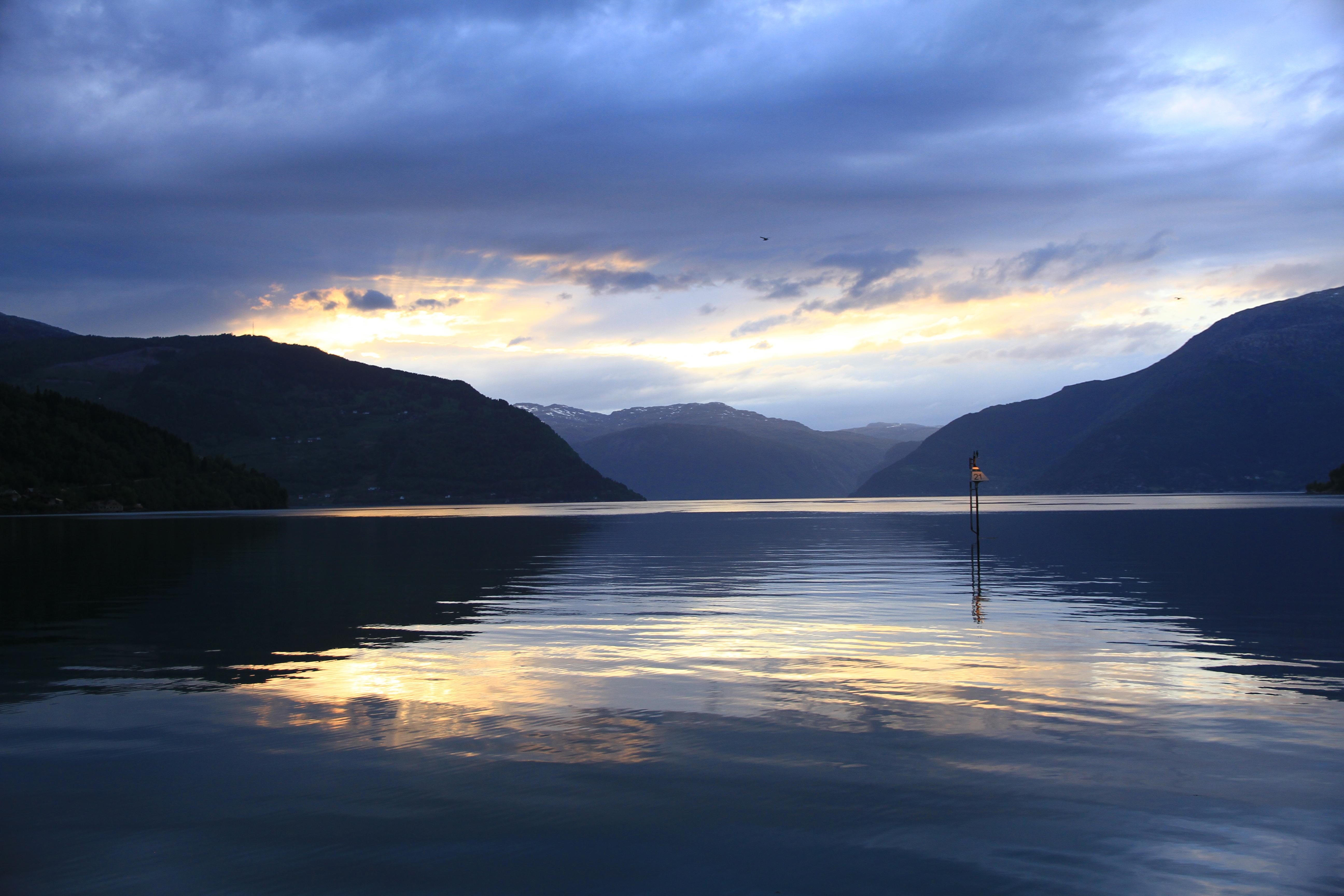 116、挪威松恩峡湾:日落景色