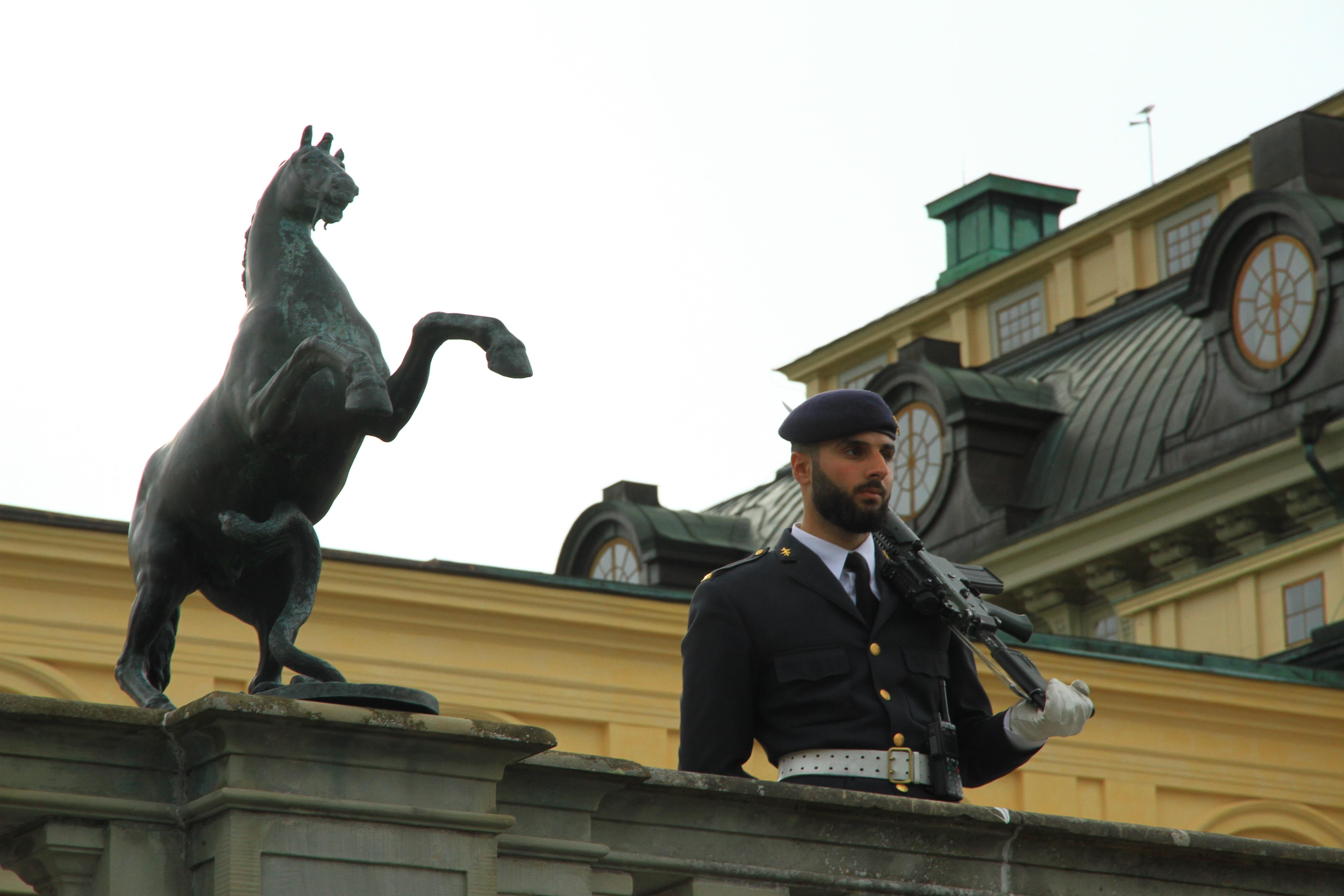 135、瑞典斯德哥尔摩:夏宫卫兵(谢谢分享)