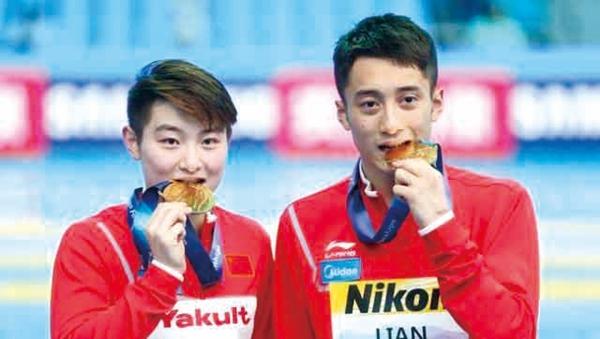 光州游泳世锦赛我省练俊杰为中国摘首金