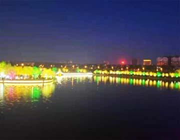 流光溢彩!滨州市区四处公园景区再添魅力夜景观