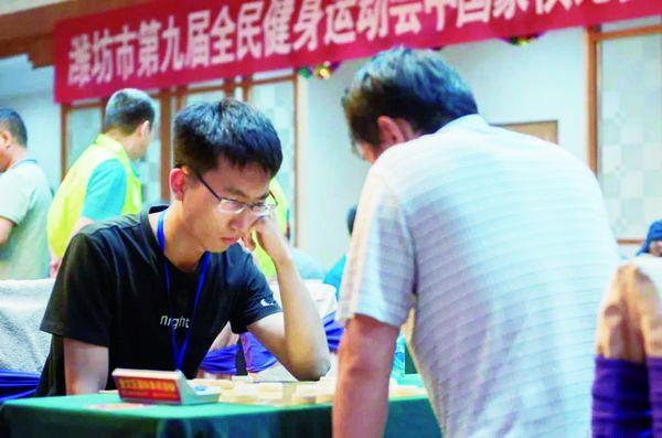 潍坊象棋高手决战楚河汉界