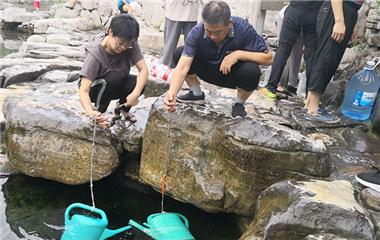 济南黑虎泉暂停取水 市民转战白石泉