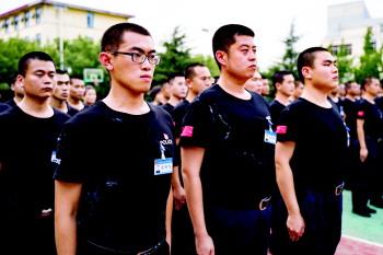 249名新入警学员淄博接受封闭训练
