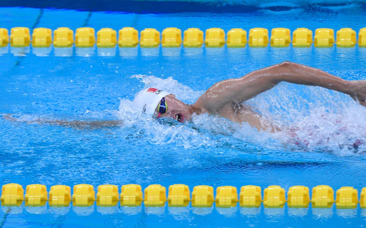 中国第三金!山东本土名将季新杰1500米自由泳夺冠