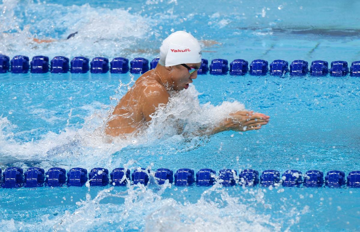 游泳世界杯济南站个人第二枚金牌!闫子贝夺50米蛙泳冠军