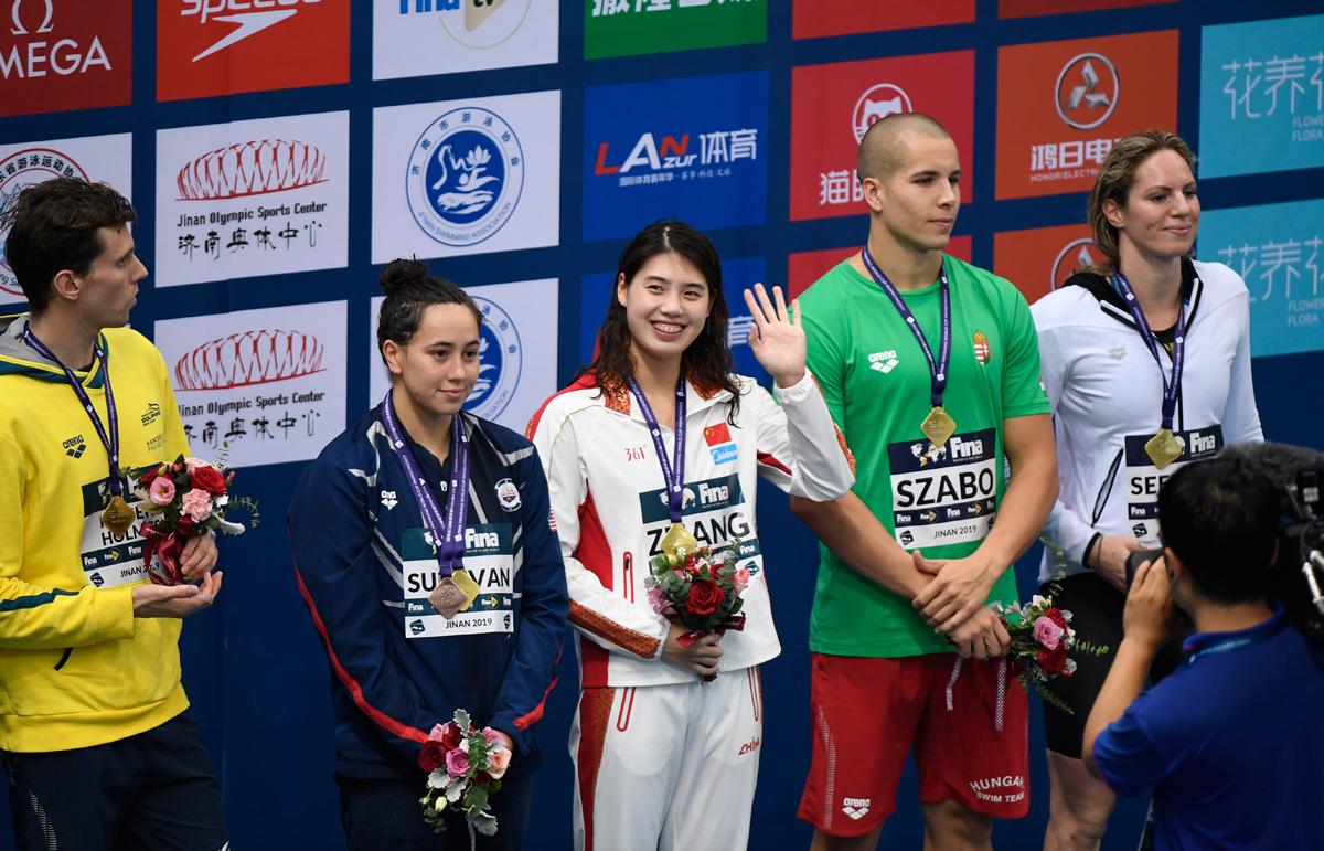 游泳世界杯济南站收官之战 女子100米蝶泳张雨霏夺冠