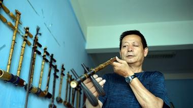 绵绵丝竹伴琴情 探访聊城唯一的手工制作京胡艺人