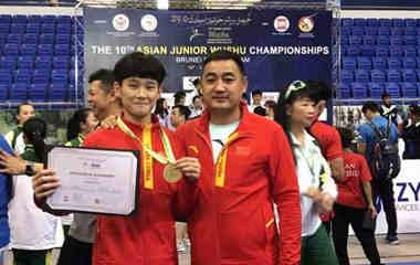 山东健儿在亚洲青少年武术锦标赛夺得三金一银