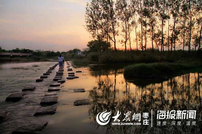 组图:台儿庄涛沟河的秋色暮歌