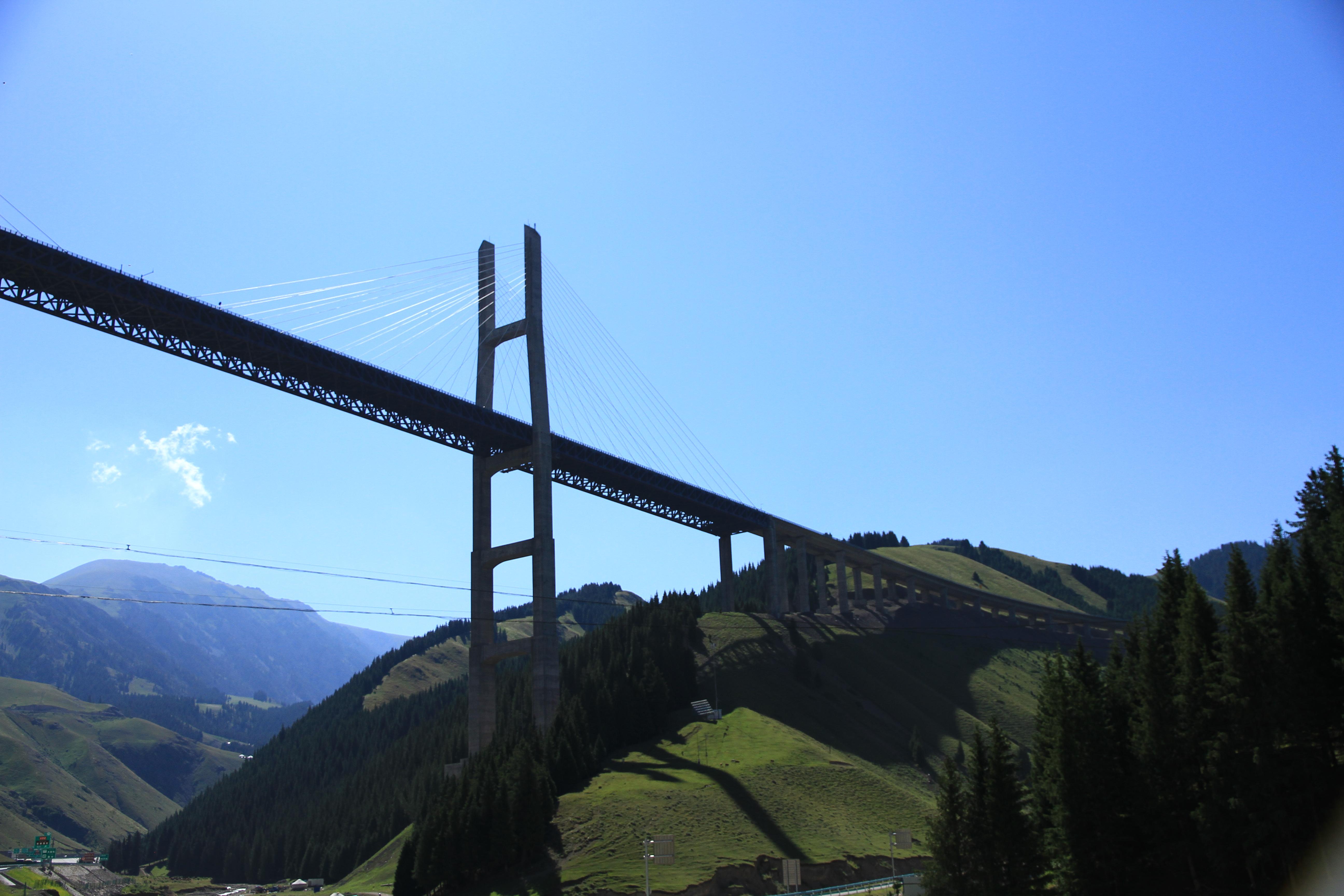 59、果子沟大桥离地净高200多米