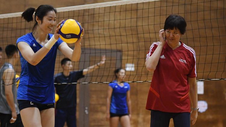 开启世界杯征程!中国女排轻松备战