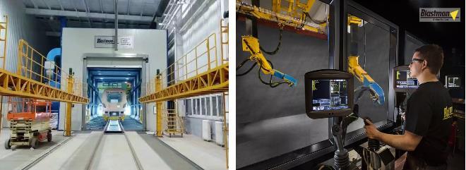 智能喷砂机器人为客户提供完善的技术方案