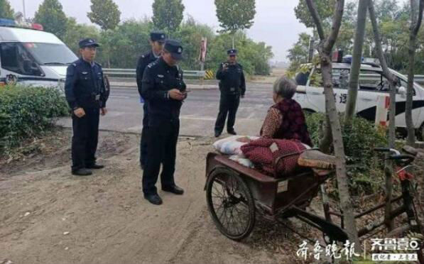 淄博九旬老人与家人赌气 独自骑三轮车带着被褥离家出走