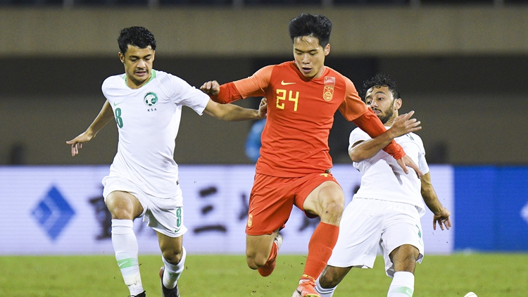 四国赛U22国足0-0沙特 段刘愚遭全场紧逼