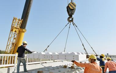 青島:濰萊高鐵施工進入沖刺階段