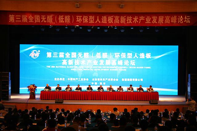 全国无醛(低醛)环保型人造板高新技术产业发展论坛