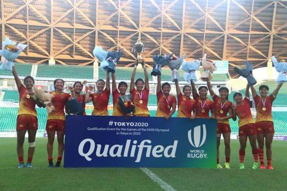 山东五朵金花助阵中国女子橄榄球成功拿到奥运入场券