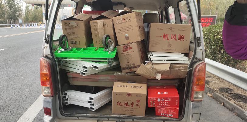 聊城高速交警查获一起违规载货违法行为