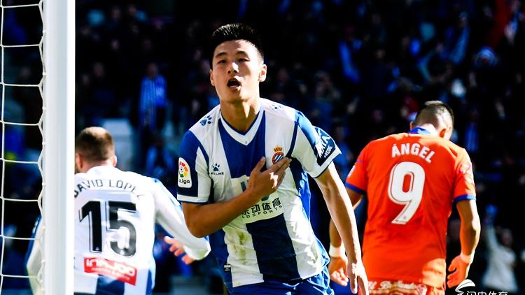 西班牙人1-1赫塔菲 武磊新赛季联赛首球