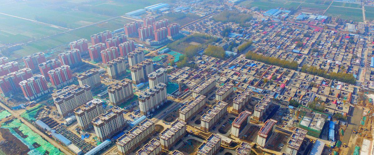 俯瞰济南黄河滩区搬迁新社区