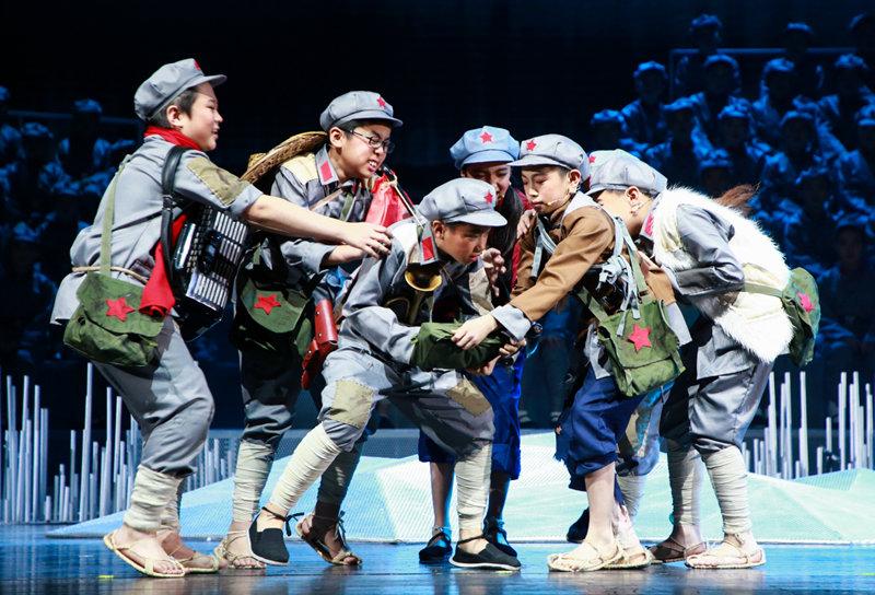 组图:儿童剧《小红军》亮相中国儿童艺术剧院