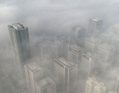 """航拍济南东部新城:汉峪金谷""""金箍棒""""冲破云雾,风景这边独好"""