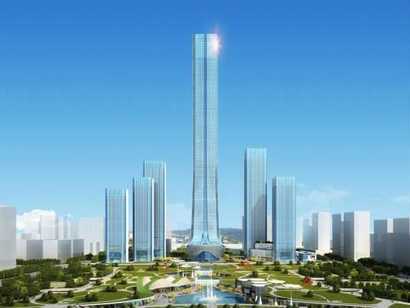 """西客站片区将建""""山东第一高"""":560米的恒大国际金融中心"""
