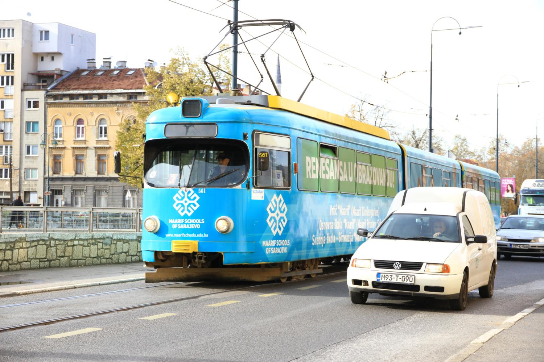 9、萨拉热窝巴西查尔西亚老城的有轨电车