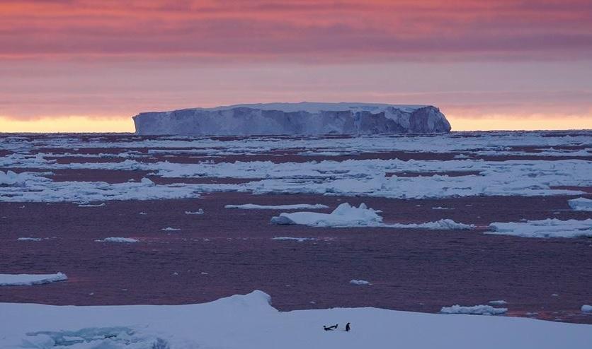 大自然的鬼斧神工:形态绝美的宇航员海冰山