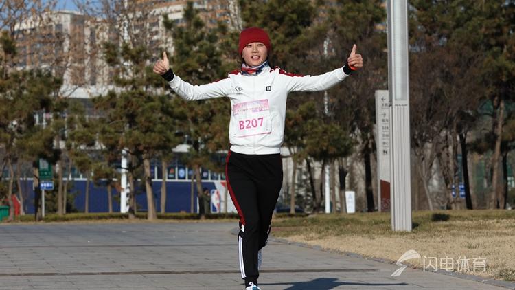 山东省全民健身冬季越野长跑东港站活力开跑