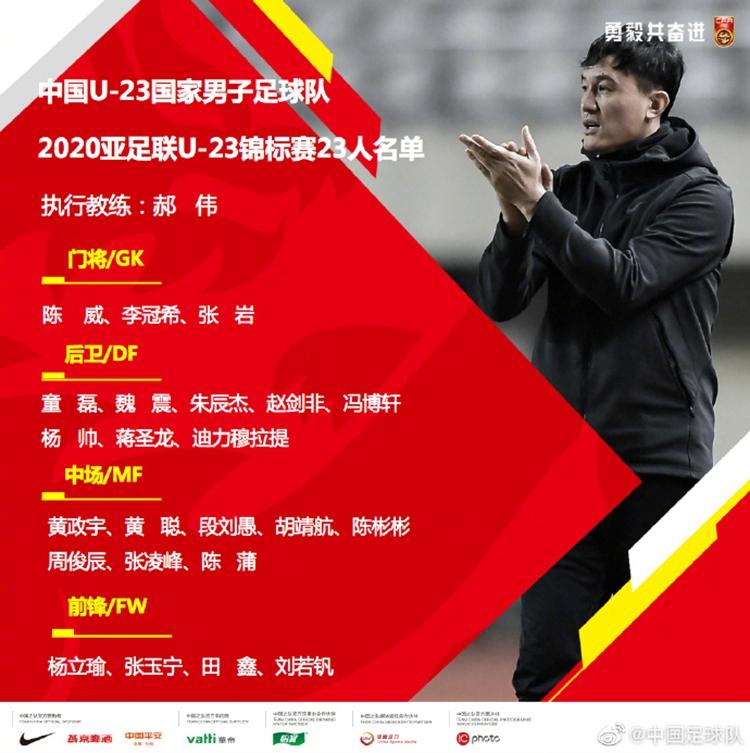 国奥历届U23亚洲杯惨淡战绩:9战1胜 两次小组垫底