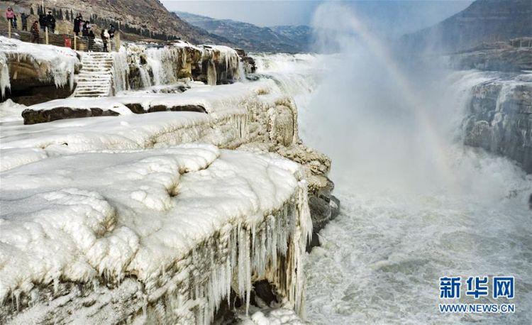 (美丽中国)(6)晶莹剔透的黄河壶口瀑布