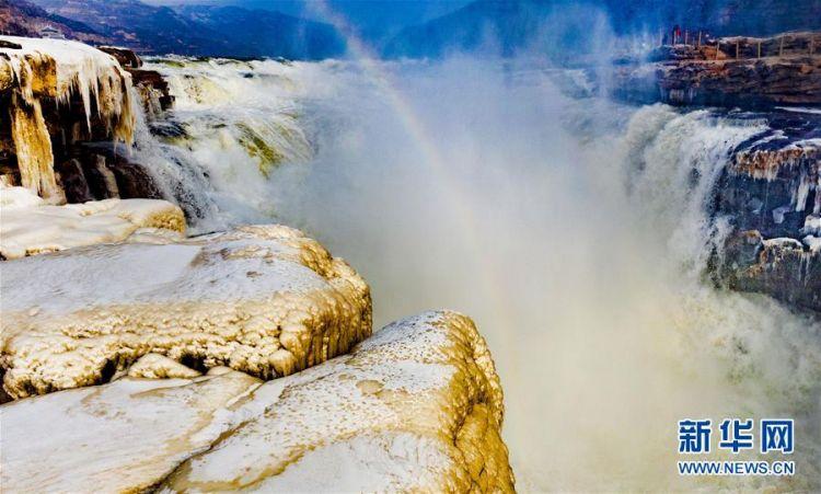 (美丽中国)(1)晶莹剔透的黄河壶口瀑布